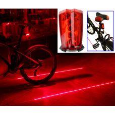 Galinė lempa su lazeriais dviračiui - pažymi dviračio takelį
