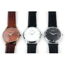 Vyriškas rankinis laikrodis su odine apyranke