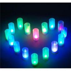 Romantiškos mirgančios LED žvakutės