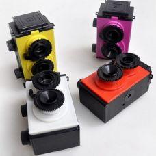Dviejų objektyvų fotoaparatas su vaizdo ieškikliu - surenkamas