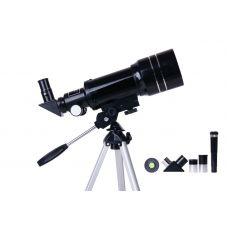 70 mm skersmens teleskopas refraktorius pradedantiesiems